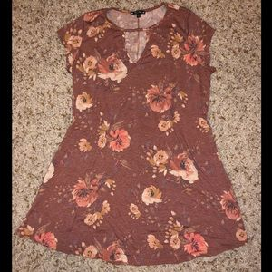 Fall Colored Floral Shift Dress